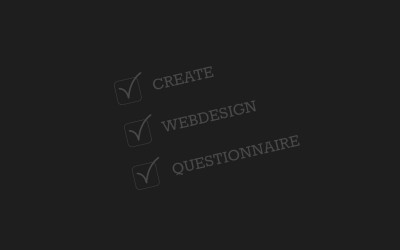 How to create a web design questionnaire